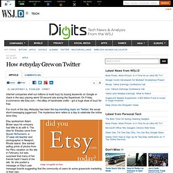 How #etsyday Grew on Twitter - Digits