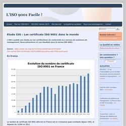 Etude ISO : Les certificats ISO 9001 dans le monde - ISO 9001 facile