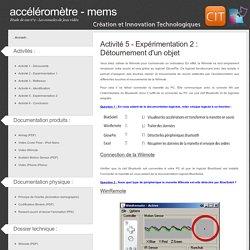 Etude de cas n°2 - Les consoles de jeux vidéo - L'accéléromètre / MEMS