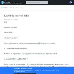 Etude de marché nike - 3391 Mots