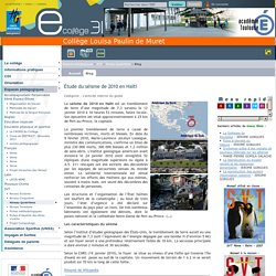 Étude du séisme de 2010 en Haïti