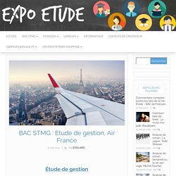 BAC STMG : Etude de gestion, Air France