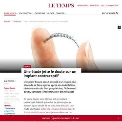 Une étude jette le doute sur un implant contraceptif