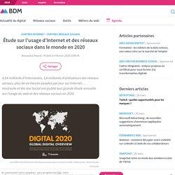 Étude sur l'usage d'Internet et des réseaux sociaux dans le monde en 2020