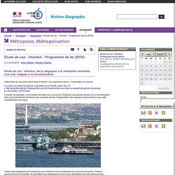 Etude de cas : Istanbul - Programme de 4e (2016)