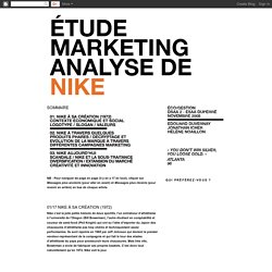 Étude Marketing Analyse de Nike: 2008/11