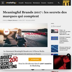 Etude Meaningful Brands 2017