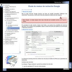 Etude du moteur de recherche Google
