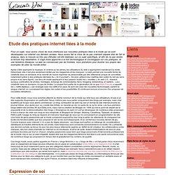 [2010] [FR] Etude des pratiques internet liées à la mode