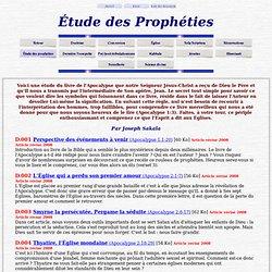 Étude des prophéties