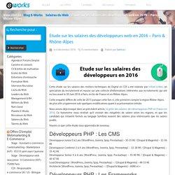 Etude sur les salaires des développeurs web en 2016 - Paris & Rhône-Alpes