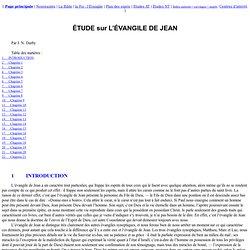 Étude sur l'Evangile de Jean