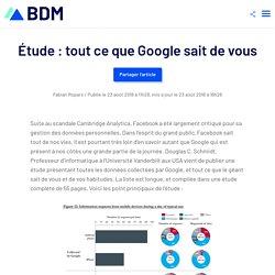 Étude : tout ce que Google sait de vous