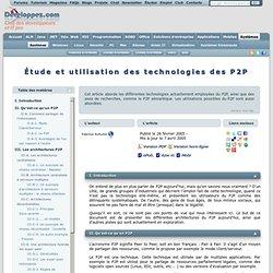 Etude et utilisation des technologies des P2P