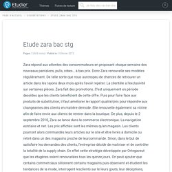 Etude zara bac stg - Compte Rendu - 663 Mots