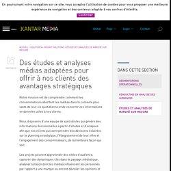 Études et analyses de marché sur mesure