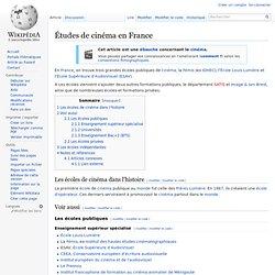 Études de cinéma en France