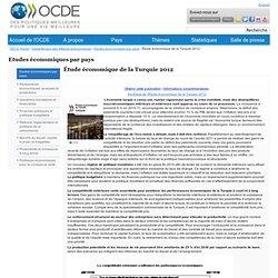 OCDE-études economiques de la Turquie