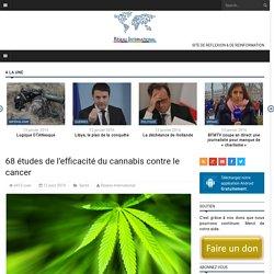 68 études de l'efficacité du cannabis contre le cancer