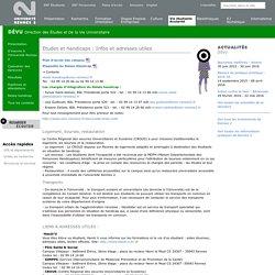 Etudes et handicaps : Infos et adresses utiles