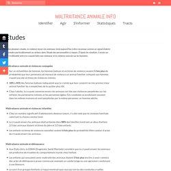 Etudes - Maltraitance-animale.info