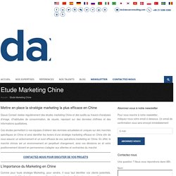 Etudes Marketing Chine - Daxue Conseil