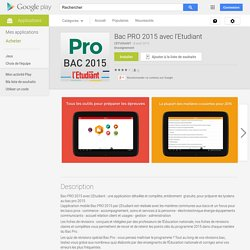 Bac PRO 2015 avec l'Etudiant – Applications Android sur Google Play