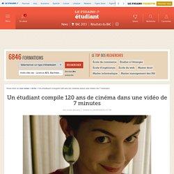 Un étudiant compile 120 ans de cinéma dans une vidéo de 7 minutes