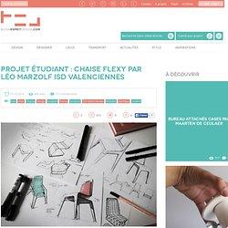 Projet étudiant Chaise Flexy par Léo Marzolf ISD Valenciennes