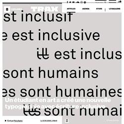 Un étudiant en art a créé une nouvelle typographie avec écriture inclusive