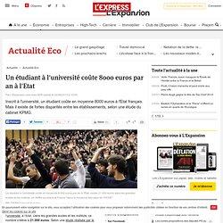 Un étudiant à l'université coûte 8000 euros par an à l'Etat