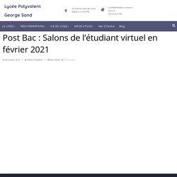 Post Bac : Salons de l'étudiant virtuel en février 2021
