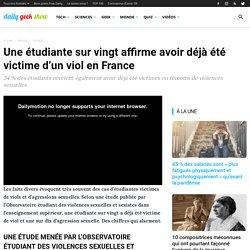 Une étudiante sur vingt affirme avoir déjà été victime d'un viol en France