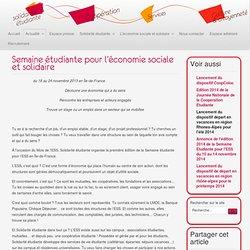 Semaine étudiante pour l'économie sociale et solidaire