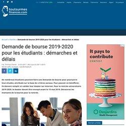 Bourse étudiante 2019-2020 : montants, conditions, demande et dossier