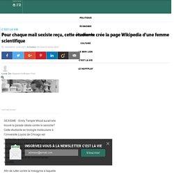 Pour chaque mail sexiste reçu, cette étudiante crée la page Wikipedia d'une femme scientifique