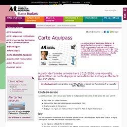 Carte étudiante Aquipass - Espace étudiant - Université Bordeaux Montaigne