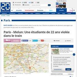 Paris - Melun: Une étudiante de 22 ans violée dans le train