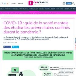 COVID-19 : quid de la santé mentale des étudiantes universitaires confinés durant la pandémie ?