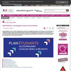 Plan Étudiants : accompagner chacun vers la réussite