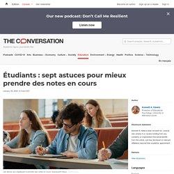 Étudiants: sept astuces pour mieux prendre desnotes encours