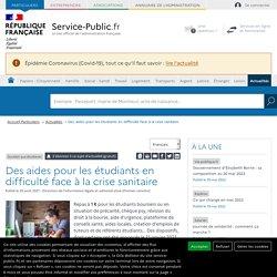 Soutien aux étudiants -Des aides pour les étudiants en difficulté face à la crise sanitaire