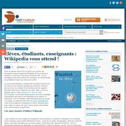 Elèves, étudiants, enseignants : Wikipedia vous attend !