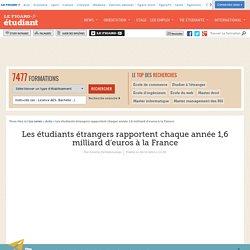 Les étudiants étrangers rapportent chaque année 1,6 milliard d'euros à la France