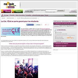 La Clé, l'État se porte garant pour les étudiants