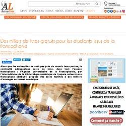 Des milliers de livres gratuits pour les étudiants, issus de la francophonie