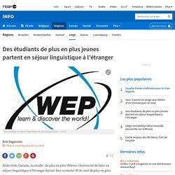 Des étudiants de plus en plus jeunes partent en séjour linguistique à l'étranger