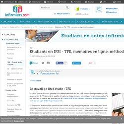 TFE, mémoires en ligne, méthodologie