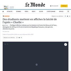 Des étudiants mettent en affiches la laïcité de l'après «Charlie»