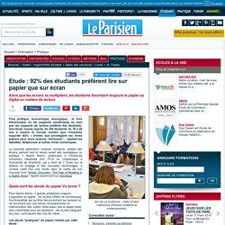 Etude : 92% des étudiants préfèrent lire sur papier que sur écran - Le Parisien Etudiant